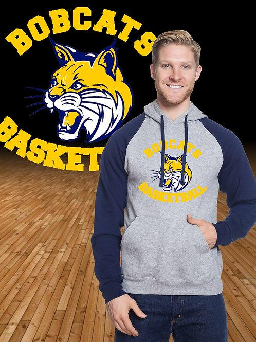 Bobcats Basketball Logo Raglan Hoodie