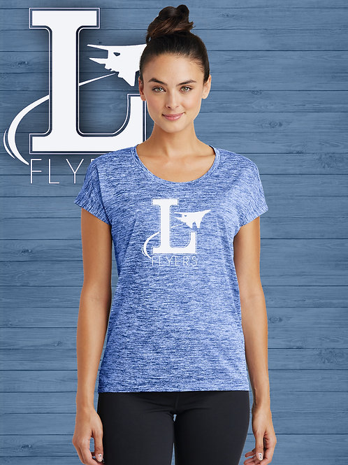Ladie's Electric Heather Sporty Tee