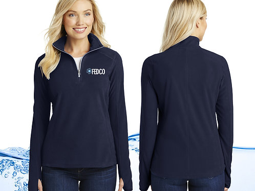 Ladies Quarter Zip Fleece Pullover
