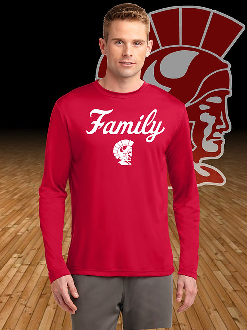 Trojan Family Moisture Wicking Long Sleeve T-Shirt
