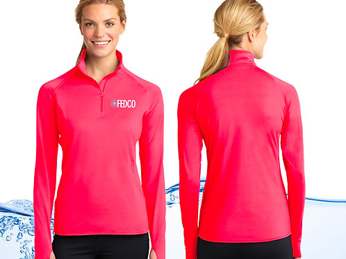 Ladies Quarter Zip Stretch Pullover