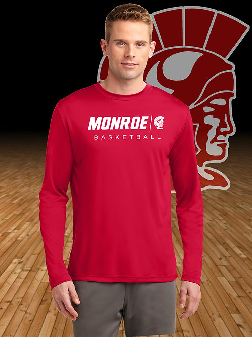 Monroe Basketball Moisture Wicking Long Sleeve T-Shirt