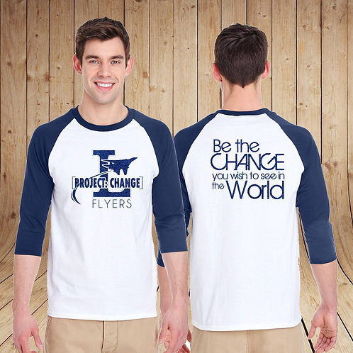 Glitter Logo Baseball T-Shirt