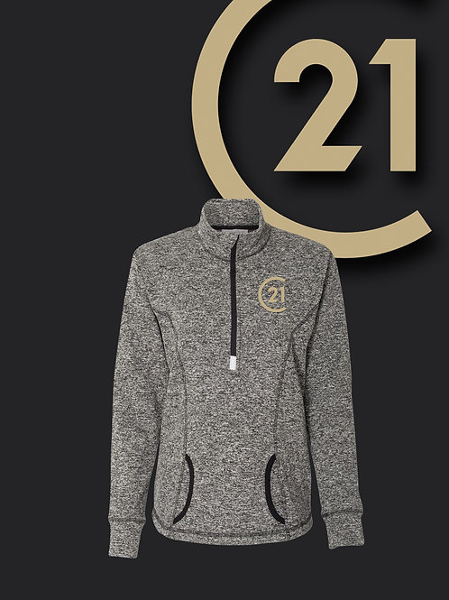 Ladies Speckled Fleece 1/4 Zip
