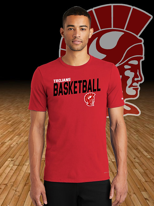 Monroe Basketball - Nike Dri-FIT Cotton/Poly Tee