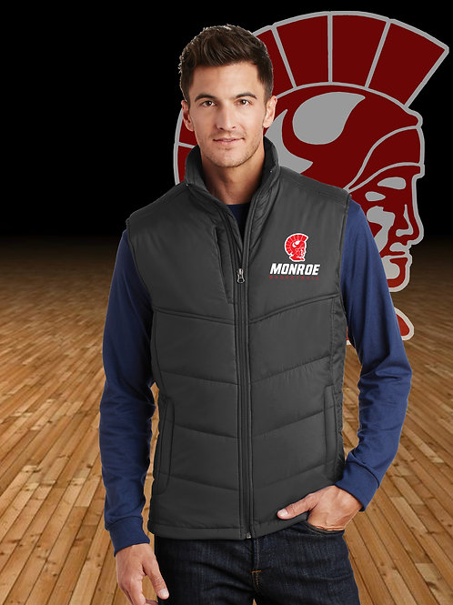 Monroe Basketball Puffy Vest - Black