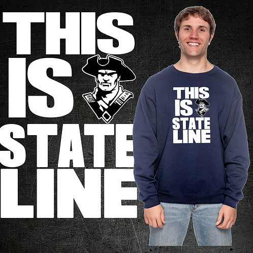 This Is State Line Crew Neck Sweatshirt