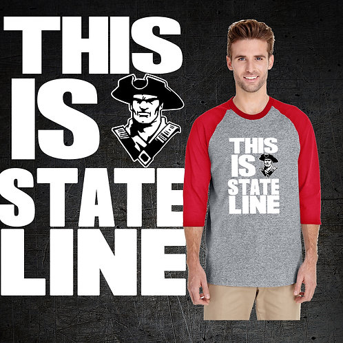 This Is State Line Baseball Tee