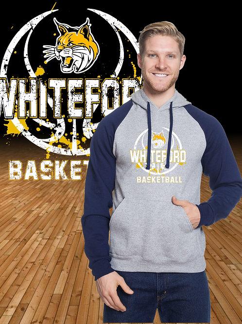 Distressed Whiteford Logo Raglan Hoodie