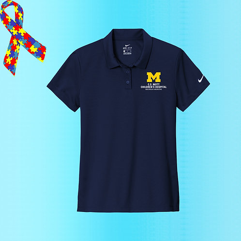 Ladies Nike Embroidered C.S. Mott Childrens Hospital Polo