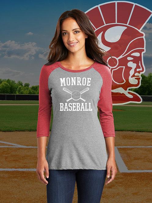 MHS Baseball - Ladies Raglan Tee