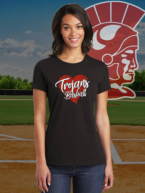 MHS Spirit - Ladies Trojan Baseball T-Shirt