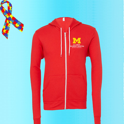 Embroidered C.S. Mott Children's Hospital Zip Fleece