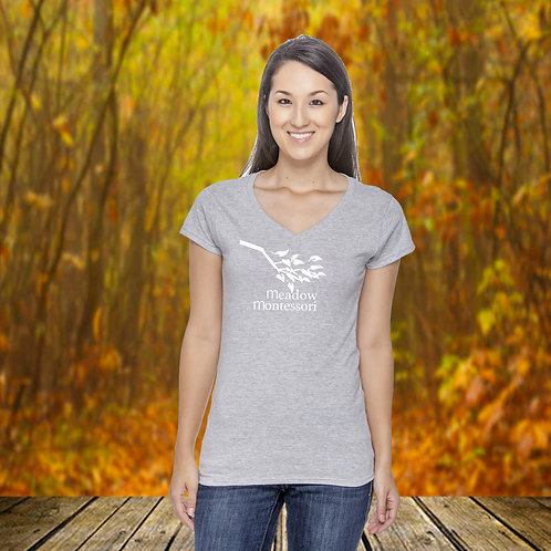 Ladies Fitted Cotton V-Neck Tee