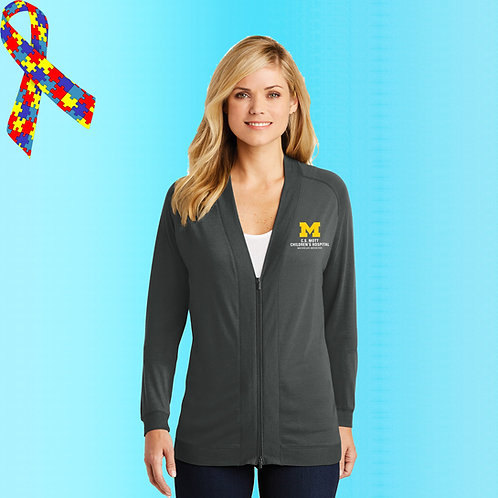 Ladies Zip Cardigan C.S. Mott Childrens Hospital Polo
