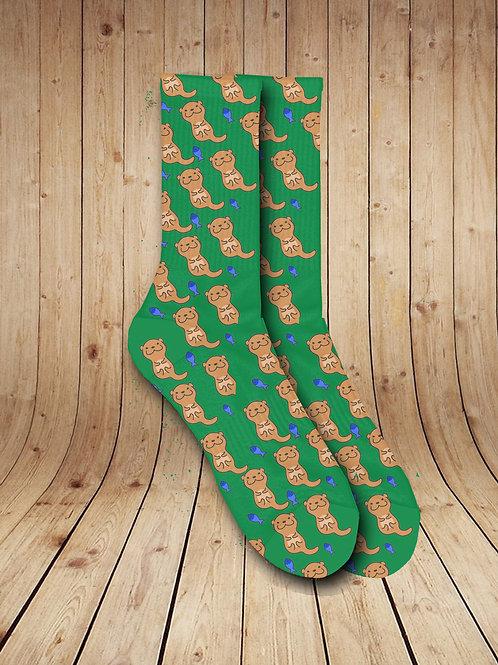 Ottawa Rivver Otters Pattern Socks