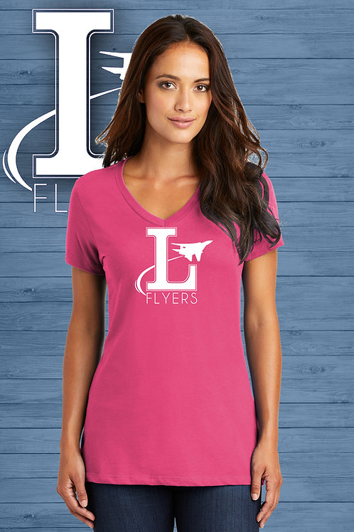 Ladies V-Neck Flyers Tee