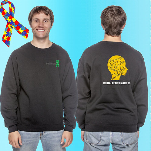 Extended Size 8 CAP Mental Health Matters Crew Neck Fleece