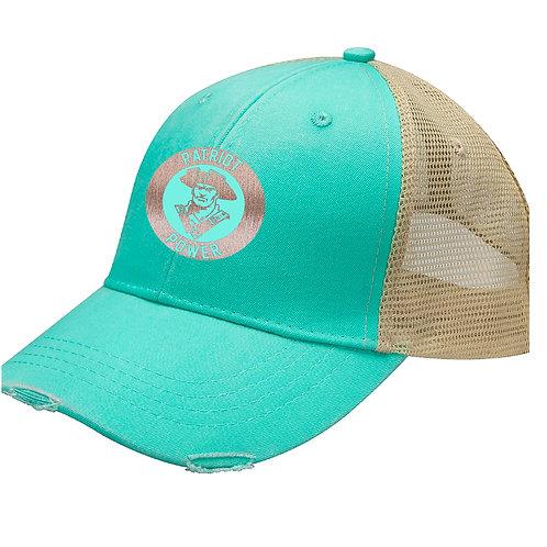 Patriot Power Baseball Caps with Metallic Rose Gold Logo