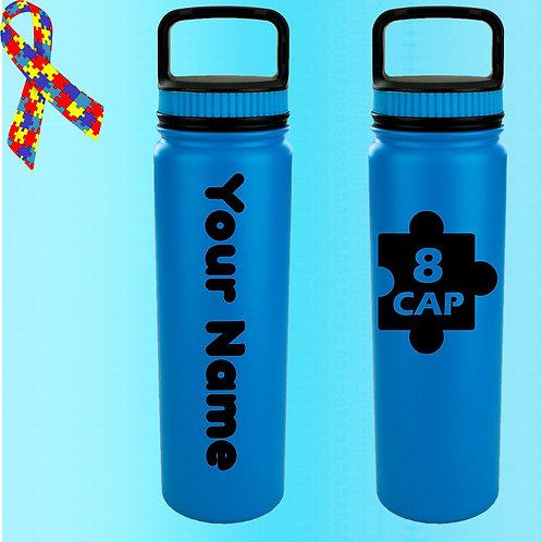 8 CAP Personalized Water Bottle