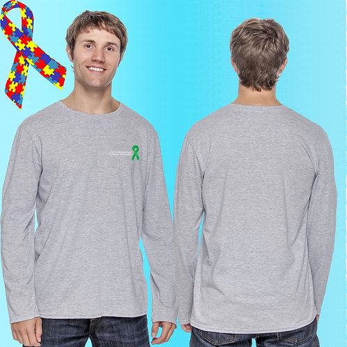 Extended Size 8 CAP Ribbon Left Chest Long Sleeve Tee