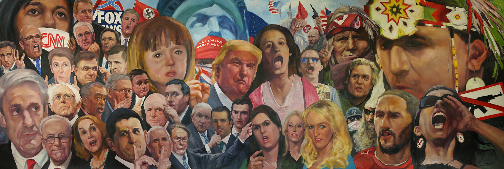 Who We Are?    Oil Painting    24' x 8'