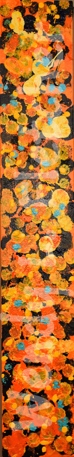 Pansies on Black Gesso