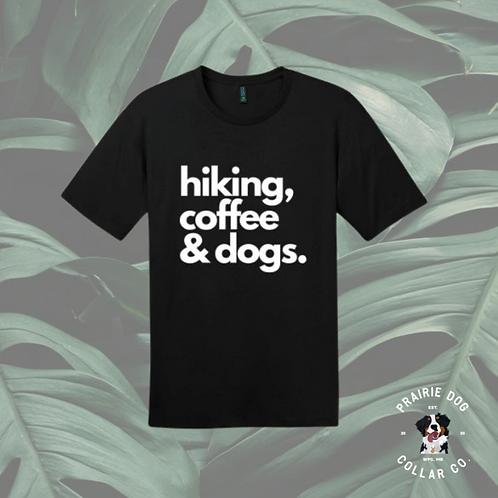Hiking, Coffee & Dogs Tee