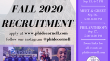 Fall 2020 Recruitment Schedule!