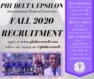 Fall 2020 Recruitment Application is Live!