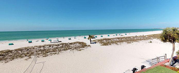 Beautiful view of white sandy beach