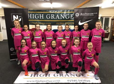 High Grange Developments Continue Support For U11 Lionesses!!