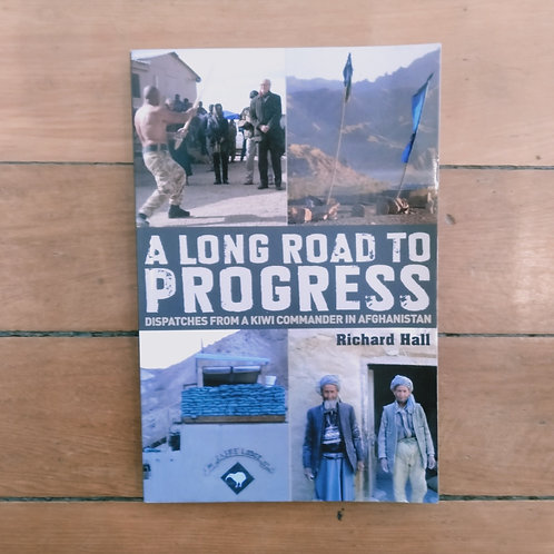 a long road to progress by Richard Hall (soft cover, good condition)