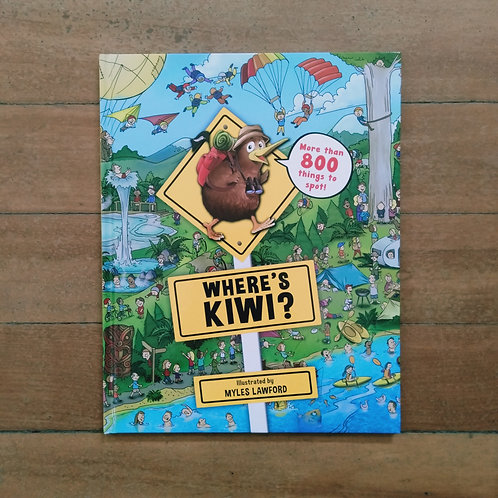 Where's Kiwi by Myles Lawford (New, Hard cover)