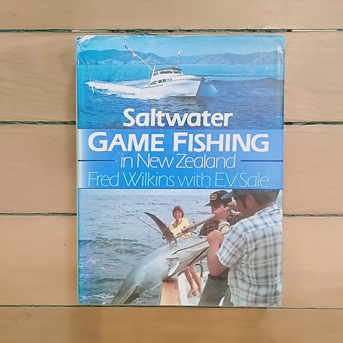 Saltwater Game Fishing in New Zealand by Fred Wilkins (hard cover,fair cond)