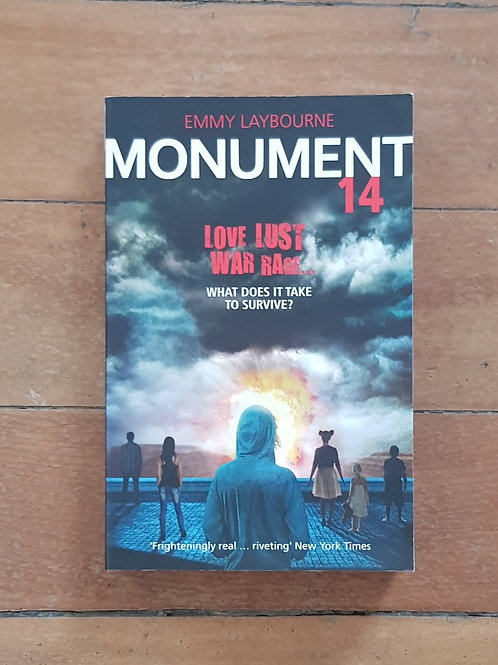 Monument 14 by Emmy Laybourne (soft cover, good condition)