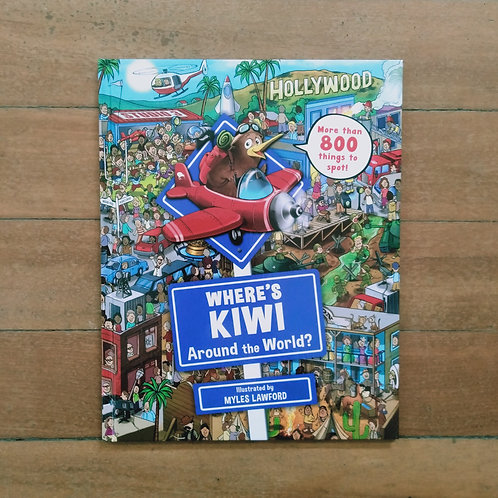 Where's Kiwi? Around the World by Myles Lawford (New, hard cover)