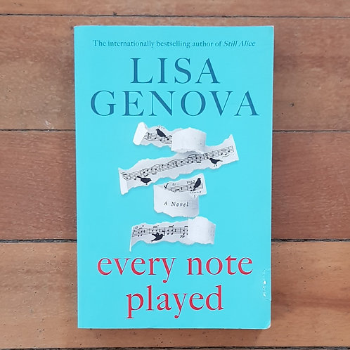 Every Note Played by Lisa Genova (soft cover, very good condition)