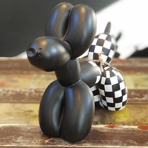 Balloon Dog Black Check