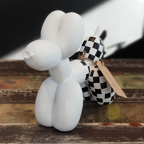Balloon Dog White Check