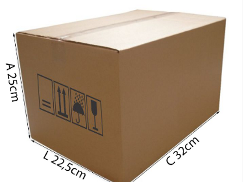 Caixa Transporte 8 32 cm x 22,5 cm x 25 cm - DELLA