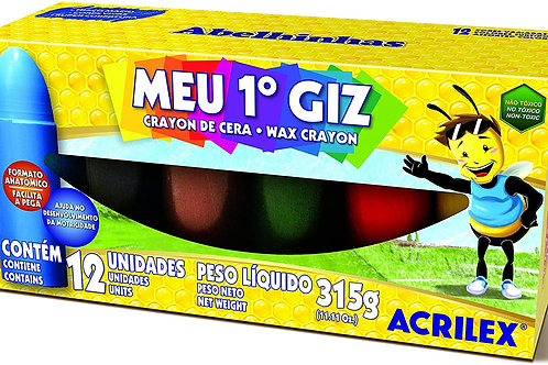 Meu 1° Giz C/ 12 Cores - ACRILEX
