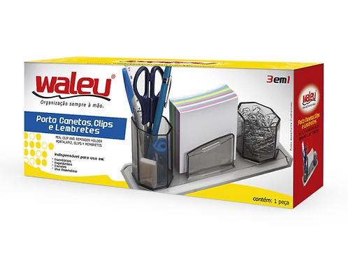 Porta Canetas, Clips Cristal e Lembretes - WALEU