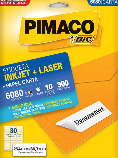 Etiqueta Carta 10 Folhas REF: 6080 - PIMACO