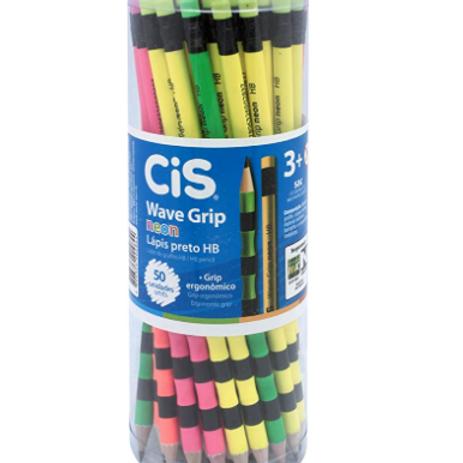 Lápis Grafite Wave Grip Neon - CIS