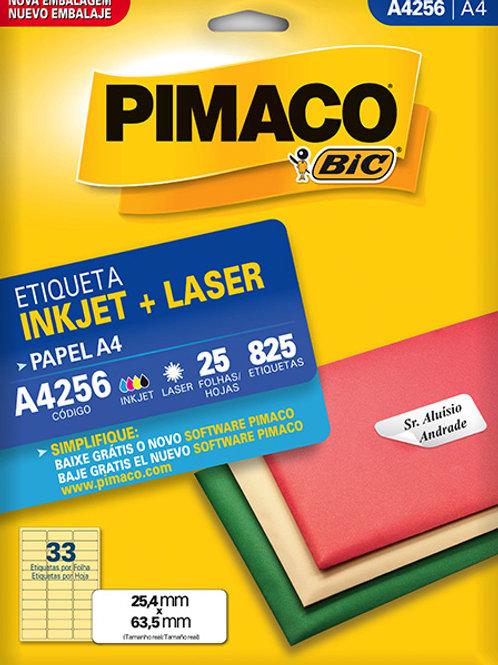 Etiqueta A4 25 Folhas REF: A4256 - PIMACO