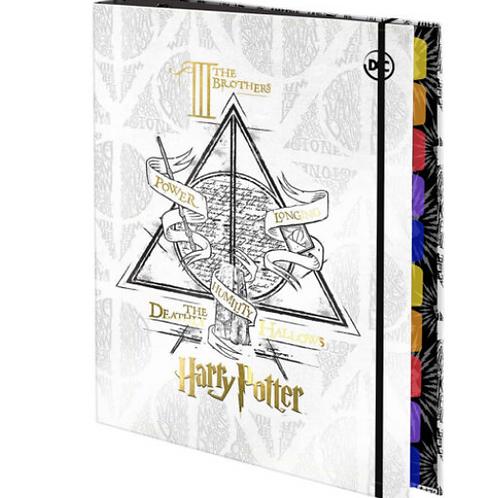 Fichário 1/4 C/ Elástico Harry Potter 48 folhas - DAC