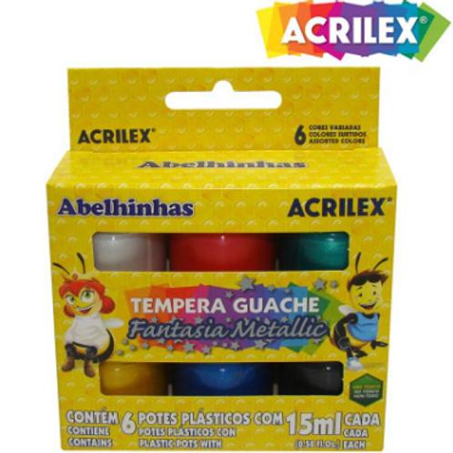 Tempera Guache Fantasia Metálica - ACRILEX
