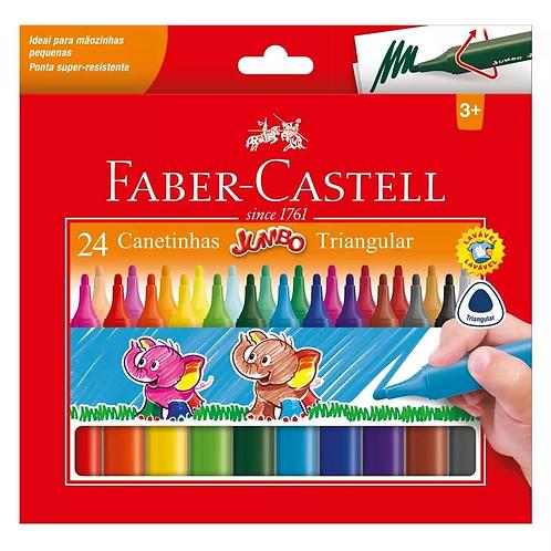 Canetinha Jumbo 24 Cores Triângular | Faber-Castell