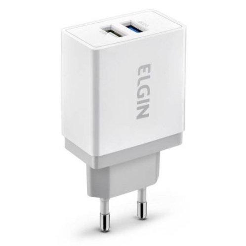 Carregador Para Tomada USB C/ 2 Saídas - ELGIN